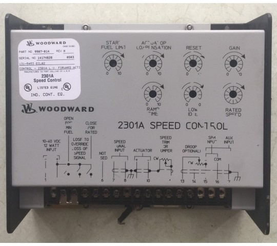 Speed control 2301A woodward part no : 9907-014, serial no : 14174828